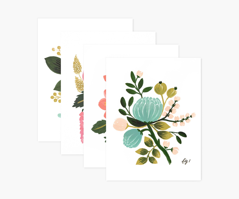 Botanical Set of Assorted Cards