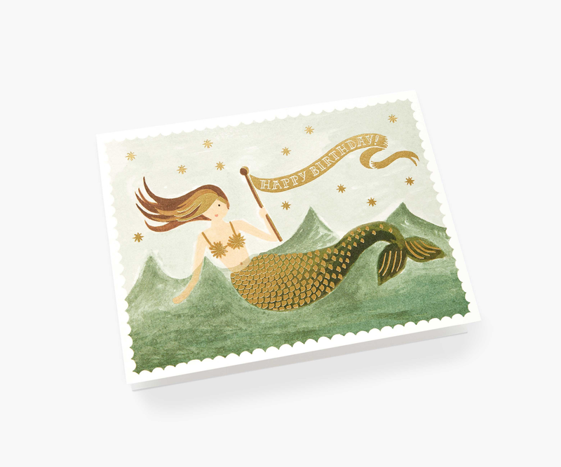 Mermaid Thank You Greeting Card