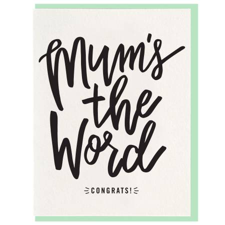 Mum's the Word Greeting Card