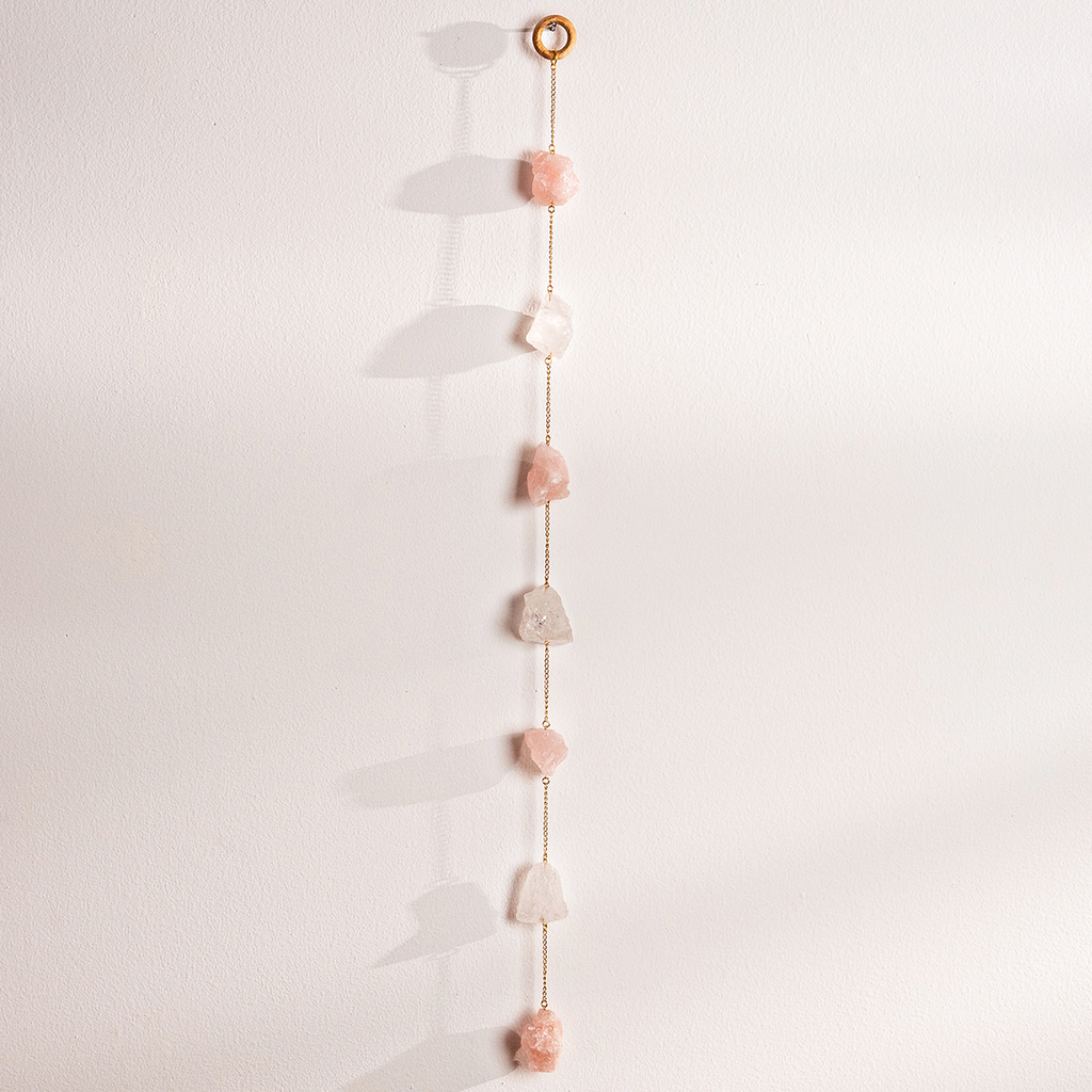 Quartz And Rose Quartz Wall Hangings