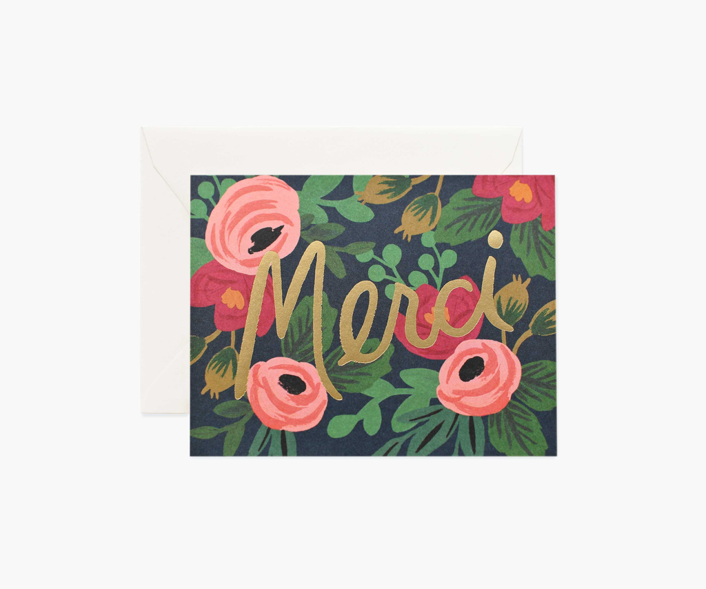 Rosa Merci Greeting Card