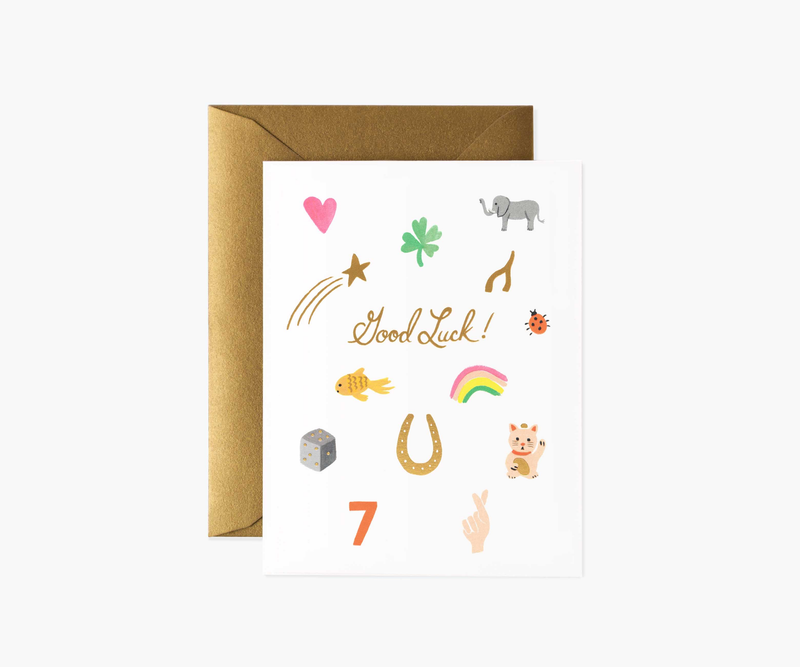 Good Luck Charms Greeting Card