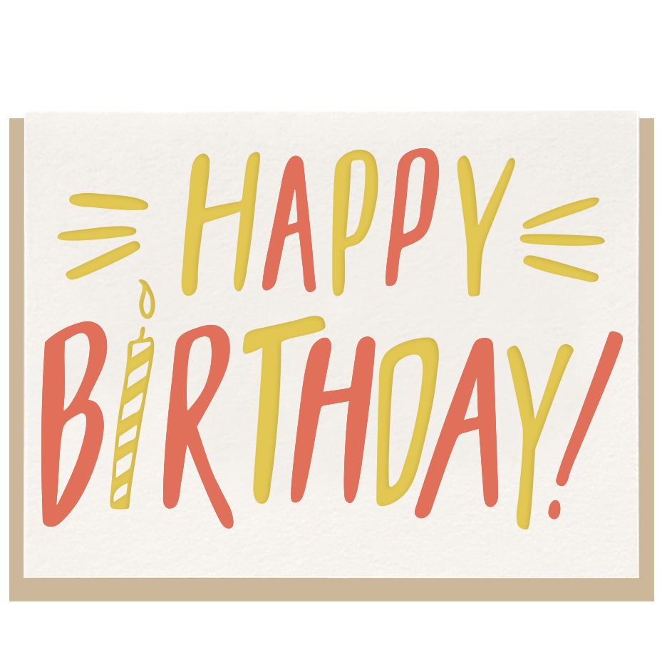 Happy Birthday Bold Greeting Card