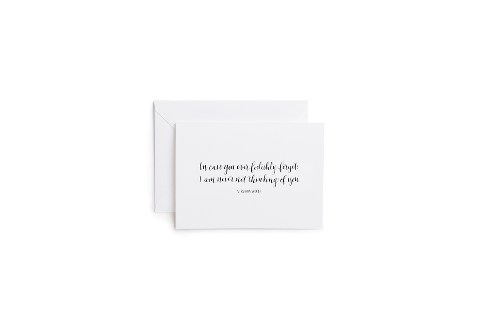 Foolishly Forget Greeting Card