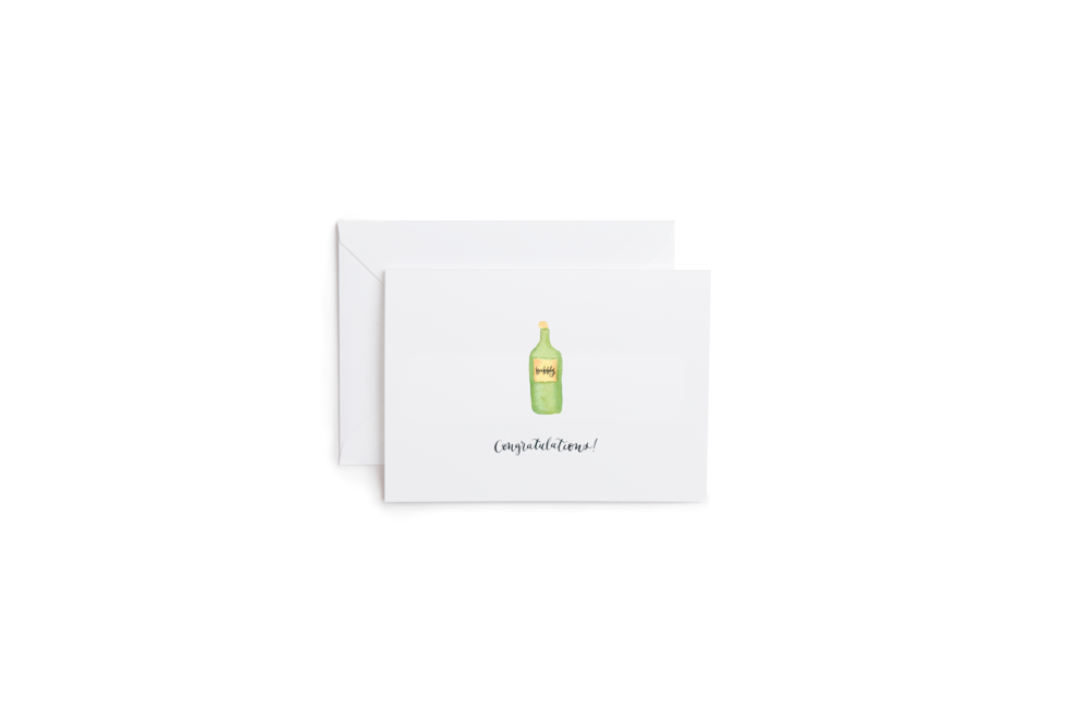 Congrats Bubbly Greeting Card