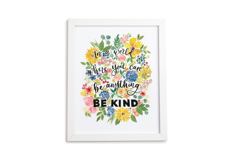 Be Kind Floral Art Print