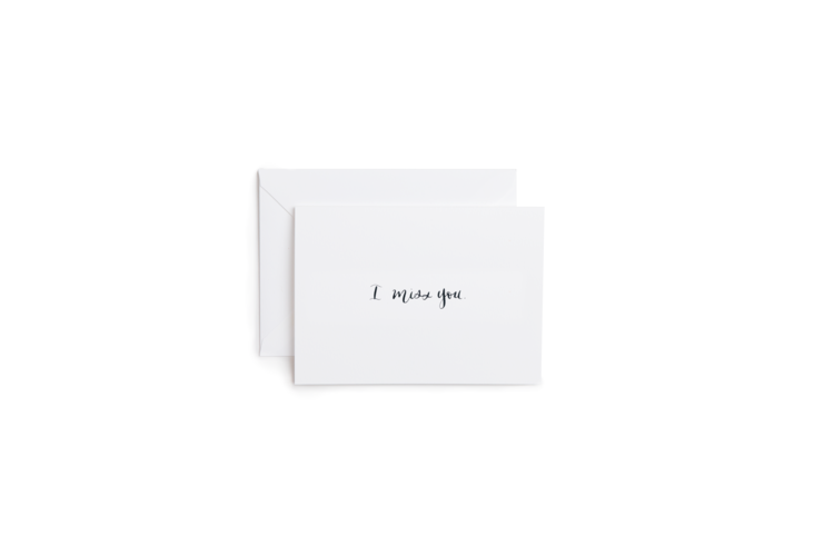 I Miss You in Calligraphy Greeting Card
