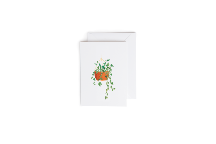 Hanging Planter Greeting Card