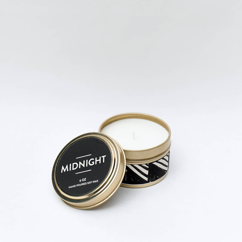 Midnight Tin Candle
