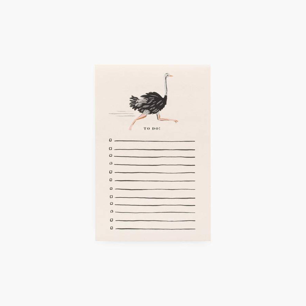 To Do: Ostrich Notepad