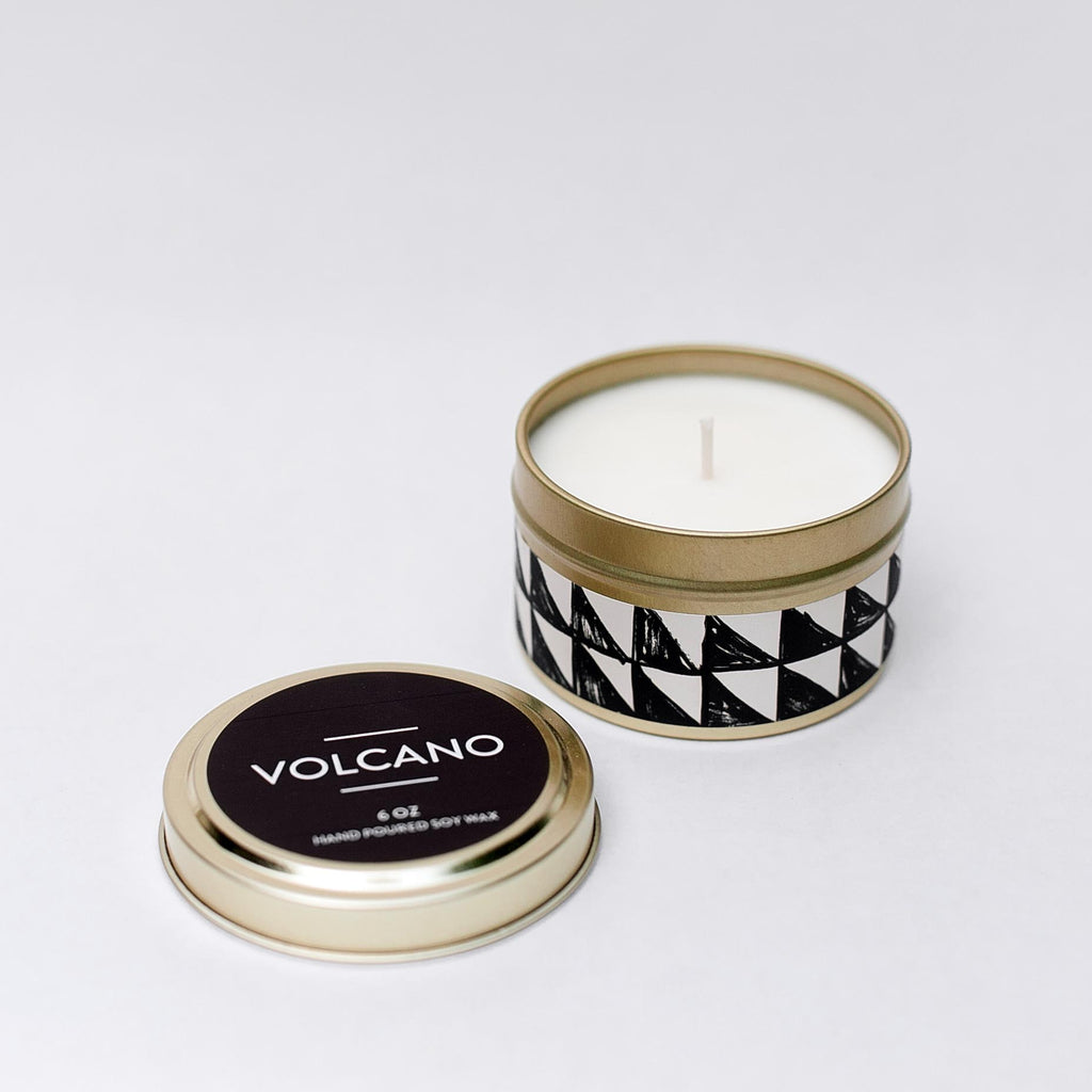 Volcano Tin Candle