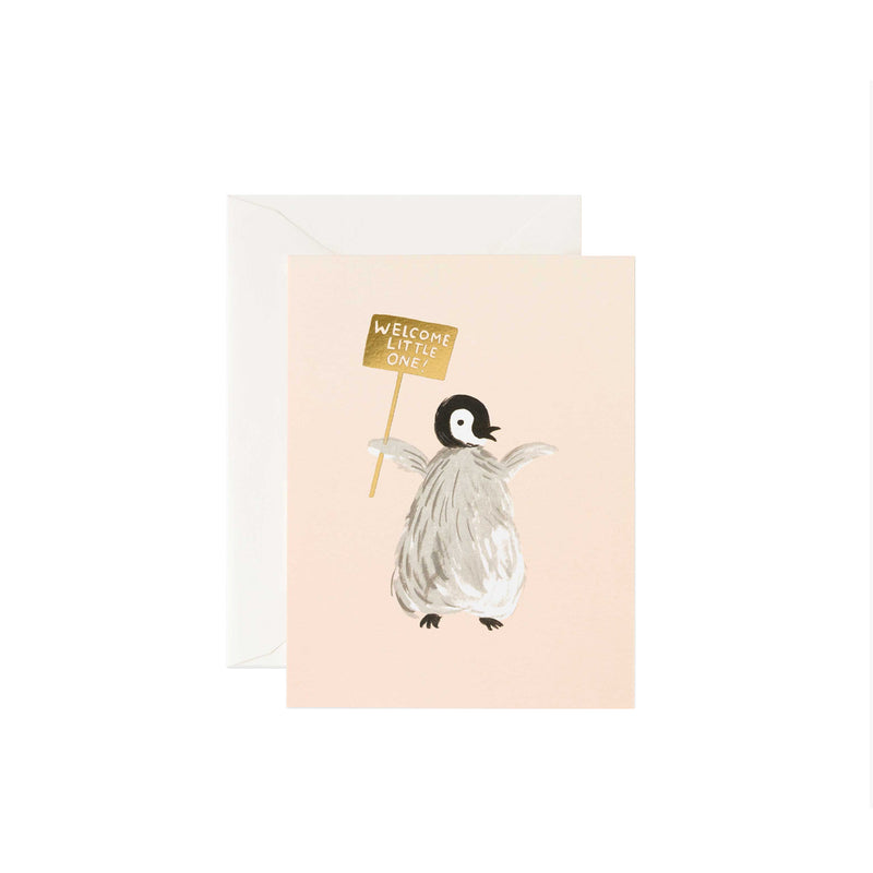 Welcome Penguin Greeting Card