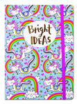 Unicorn Bright Ideas A5 Luxury Lined Notebook by Rachel Ellen