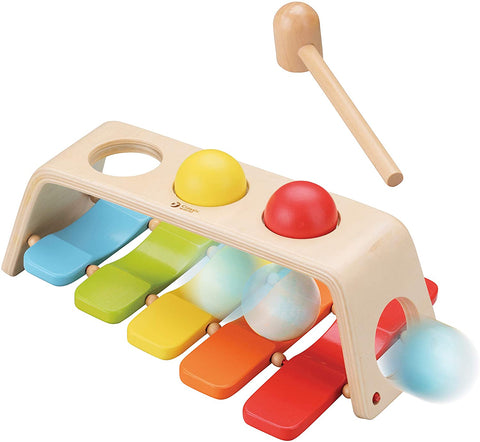 Classic World 2 in 1 Pound and Tap Bench Xylophone with Mallet