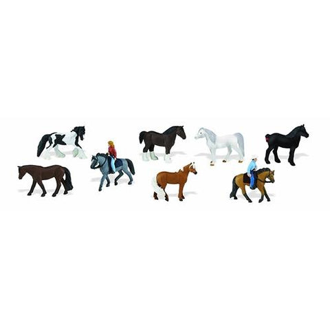 Safari Toob Horses and Riders Miniatures
