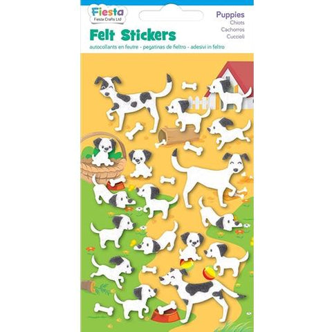 Fiesta Crafts Puppies Felt Stickers