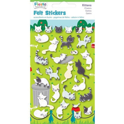Fiesta Crafts Kittens Felt Stickers