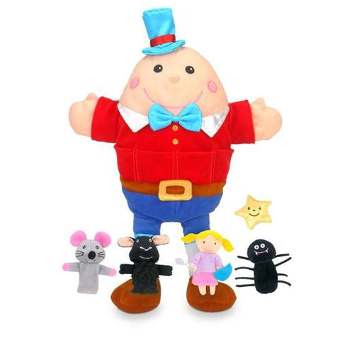Fiesta Crafts Humpty  Nursery Rhyme Hand and Finger Puppet Set
