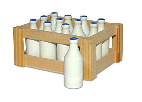 small foot 7062 wooden mini milk bottles in Crate