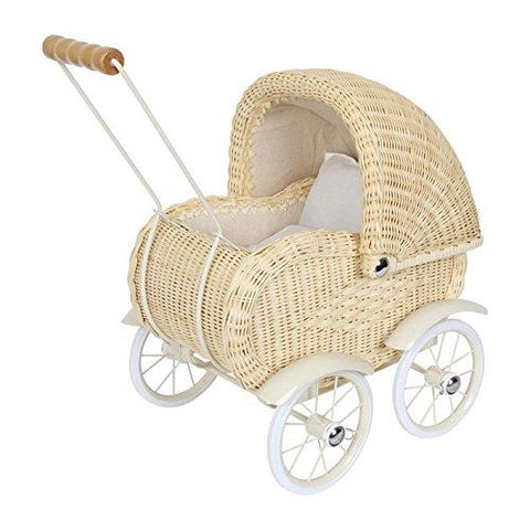 Dolls Pram Wickerwork