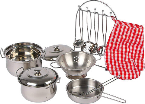 Childrens Toy Metal Cooking Pots