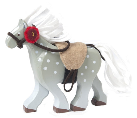 Le Toy Van Grey Horse with Saddle