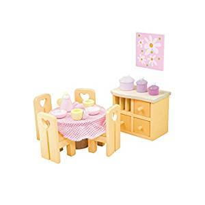 Le Toy Van Wooden Sugar Plum Dining Room Doll's House Furniture Set