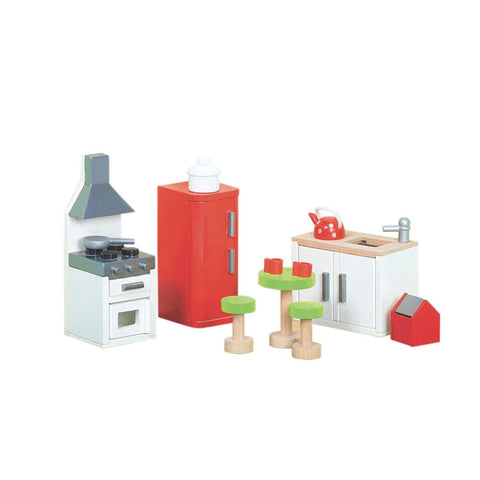 Le Toy Van Wooden Sugar Plum Kitchen Doll's House Furniture Set