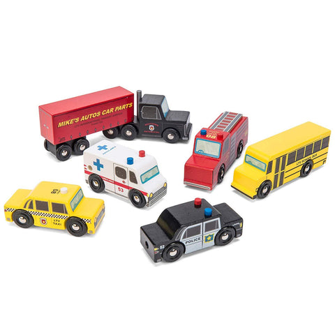 Le Toy Van Wooden New York Car Set