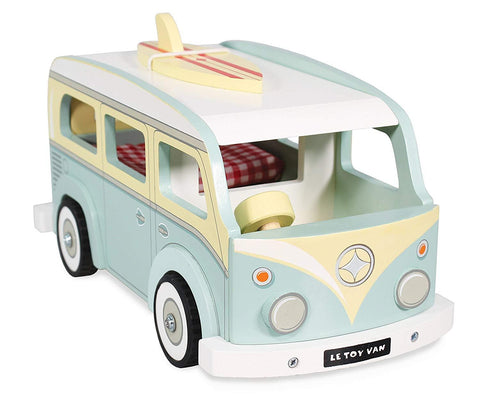 Le Toy Van Retro Wooden Holiday Camper Van Toy