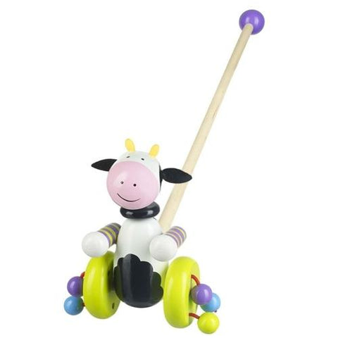 Orange Tree Toys Cow Push Along