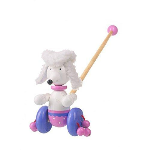 Pom Pom Poodle Push Along Wooden Childrens Toy