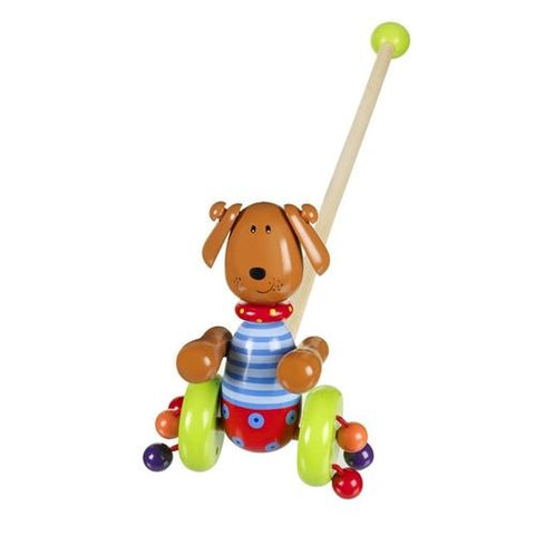 Orange Tree Toys Dog Push Along