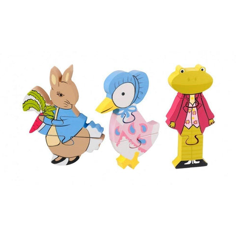 Peter Rabbit Mini Puzzle Wooden Jigsaw Set Beatrix Potter Childrens Toy