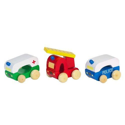 Orange Tree Toys Wooden First Emergency Vehicles