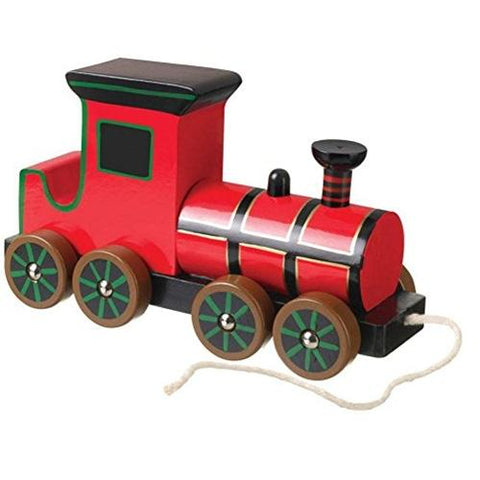 Orange Tree Toys Wooden Pull Along Steam Train