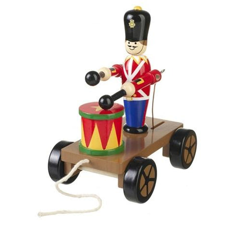 Orange Tree Toys Drumming Soldier on Wheels