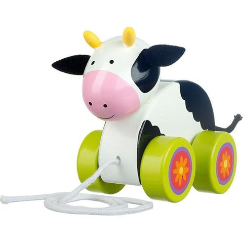 Orange Tree Toys Cow Pull Along