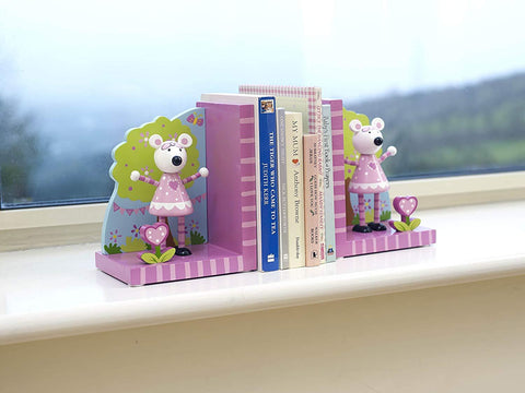 Pink Mouse Bookends