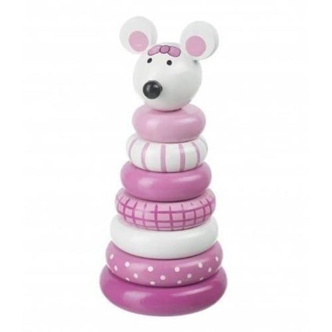 Orange Tree Toys Pink Mouse Stacking Ring