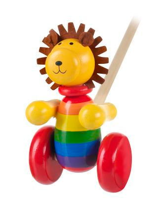 Orange Tree Toys Lion Push Along
