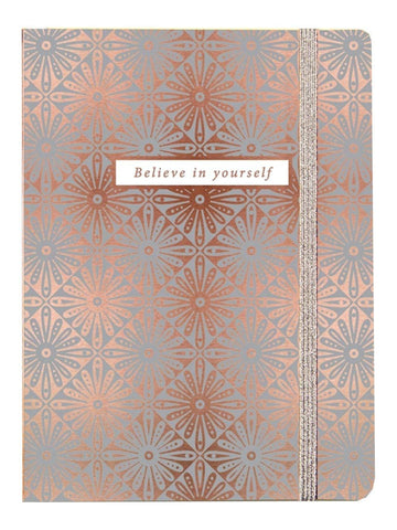 Rachel Ellen Chunky 400 Page Notebook - Lustre Rose Gold Design