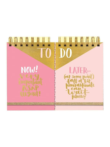 Rachel Ellen To Do Now / Later Hardback Notepads 2 Pack