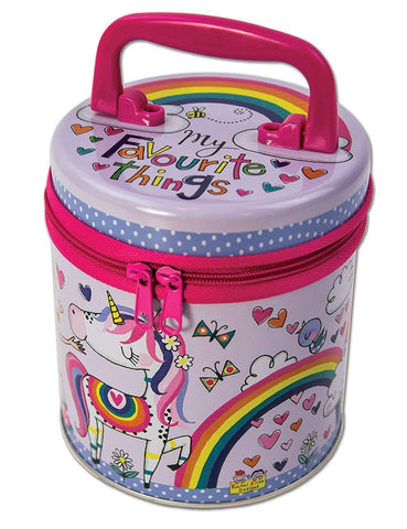 Rachel Ellen  Zipped Kid's Storage Tin - My Favourite Things Princess