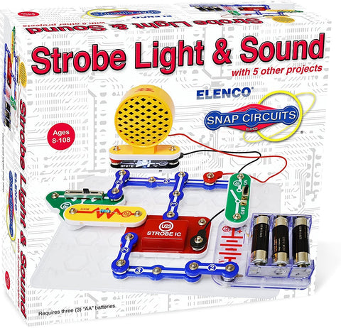 Elenco Electronics Snap Circuits Strobe Light & Sound Kit SCP-14
