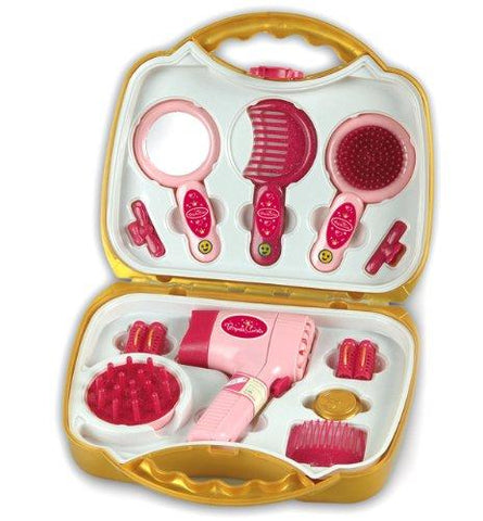 Theo Klein 5293 Princess Coralie Hairdressing Case Set with Electrical Hairdryer