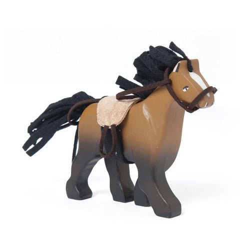 Le Toy Van Brown Horse with Saddle