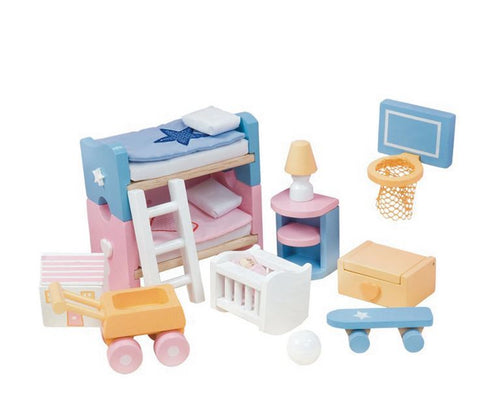 Le Toy Van Dollhouse Sugar Plum Children's Bedroom