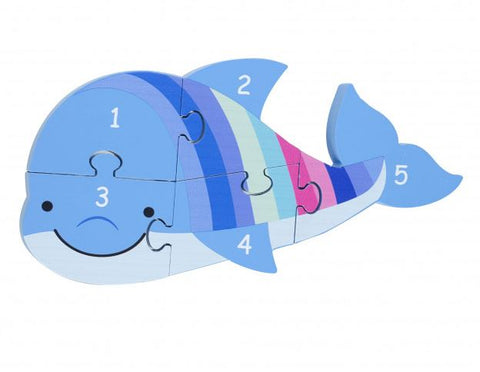 Orange Tree Toys Dolphin Number Puzzle