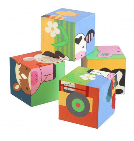 Orange Tree Toys Farm Animals Stacking Blocks